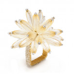 Constellation Napkin Ring Champagne/Crystal | Gracious Style