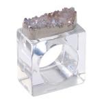 Rock Crystal Napkin Ring, Set of Four - Crystal