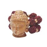 Buddha Head Napkin Ring - Natural/Gold