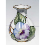 Giftware Purple Pansy Bud Vase 4.5 in High