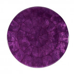 Round Capiz Plum Placemats