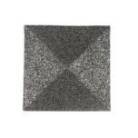Metal Bead Square Placemats - Gunmetal