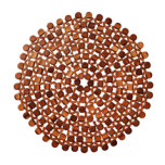 Round Bamboo Brown Placemats