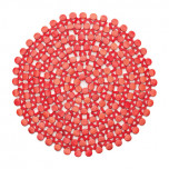 Round Bamboo Coral Placemats