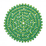 Round Bamboo Green Placemats