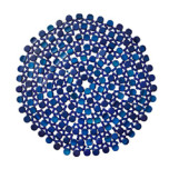 Round Bamboo Navy Placemat   Gracious Style