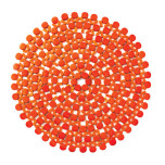 Round Bamboo Orange Placemats