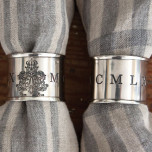 Chateau Round Silver Napkin Rings - Four