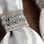 Victorian Square Silver Napkin Rings - Four