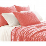 Marina Coral Cotton Coverlet