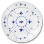 Blue Fluted Plain Dinnerware