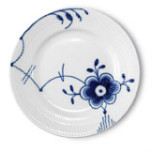 Blue Fluted Mega Bread & Butter Plate #6 7 in