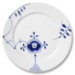 Blue Fluted Mega Dinner Plate #6 11 in