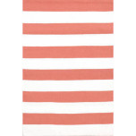 Catamaran Stripe Coral/White Indoor/Outdoor Rug