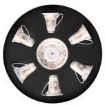 Medusa Gala Ad Cup & Saucer Set/six Rount Hat Box 3 Oz (Special Order)