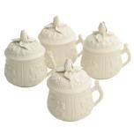 Pot A Crème, Set Of Four
