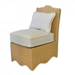 Raffia Scalloped Slipper Chair