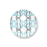Kennedy Salad Plate 8.5 in Turquoise/Gray