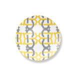 Kennedy Salad Plate 8.5 in Yellow/Gray