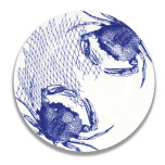 Crabs and Nets Blue Dinnerware
