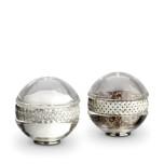 Braid Platinum Salt & Pepper Shakers | Gracious Style