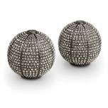 Pave Sphere Noir Salt & Pepper Shakers