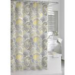 Paisley Shower Curtain Yellow Gray