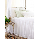 Savannah Linen Gauze White Bedding