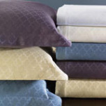 Asti Quatrefoil Cotton Coverlet