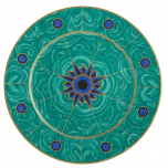 Mottahedeh Tony Duquette Green Malachite Charger