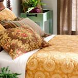 Uma Resist Gold Reversible Cotton Quilt