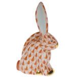 Rabbit Miniature 2.25 In H, Fishnet Rust