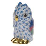 Owl Miniature 1.75 In H , Fishnet Blue