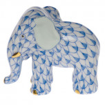 Miniature Elephant 1.75 In H, Fishnet Blue