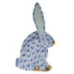 Rabbit Miniature 2.25 In H, Fishnet Blue