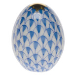Miniature Egg 1.5 In H , Fishnet Blue