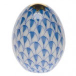 Miniature Egg 1.5 In H , Fishnet Blue