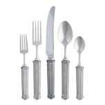 Pewter Leaf Flatware