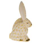 Rabbit Miniature 2.25 In H, Fishnet Butterscotch