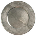 Pewter Oak Charger | Gracious Style
