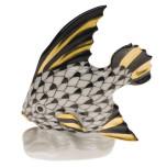 Fish Table Ornament 2.5 In H, Fishnet Black