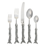 Pewter Coral Flatware