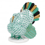 Tom Turkey 2.5 In L X 3.25 In H, Fishnet Green