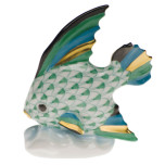 Fish Table Ornament 2.5 In H, Fishnet Green