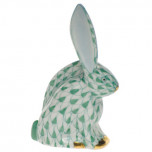 Rabbit Miniature 2.25 In H, Fishnet Green