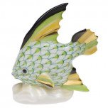 Fish Table Ornament 2.5 In H, Fishnet Lime Green