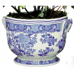 Blue & White Floral Cachepot