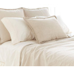 Zen Textured Linen/Cotton Coverlet | Gracious Style