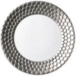 Aegean Sculpted Platinum Dinnerware | Gracious Style