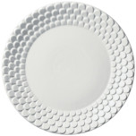 Aegean Sculpted White Charger Plate | Gracious Style
